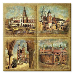Podstawka ceramiczna Kraków zabytki 15x15