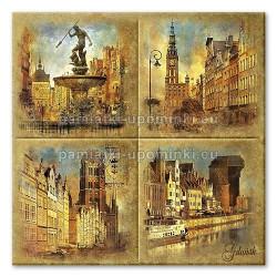 Podstawka ceramiczna Gdańsk zabytki 15x15