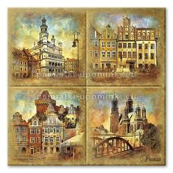 Podstawka ceramiczna Poznań zabytki 15x15