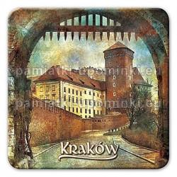 Magnes kwadrat Kraków Baszta na Wawelu
