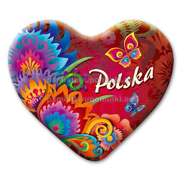 Magnes folkowy Polska czerwony