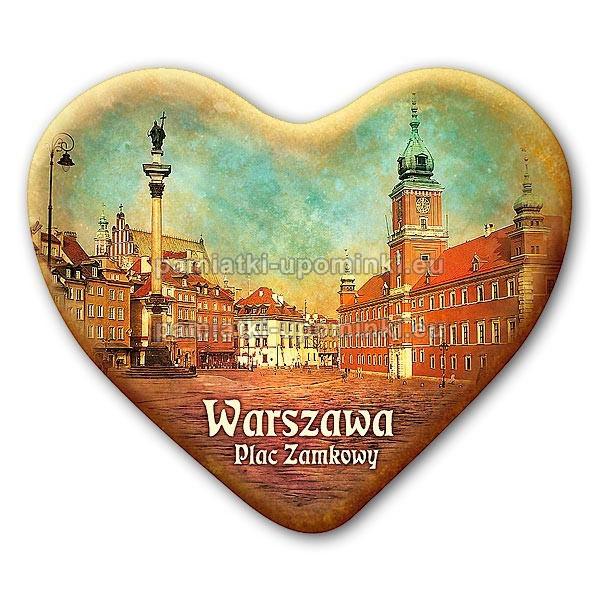 Magnes serce Warszawa Plac Zamkowy