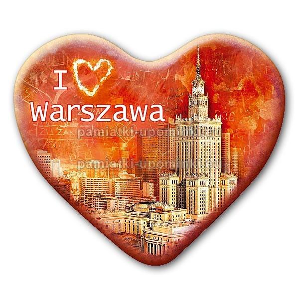 Magnes serce I love Warszawa Pałac