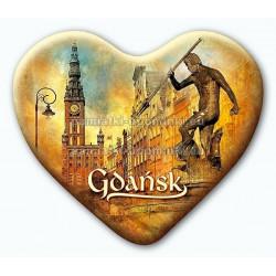 Magnes serce Gdańsk Neptun Ratusz