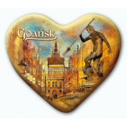 Magnes serce Gdańsk Neptun Złota Brama