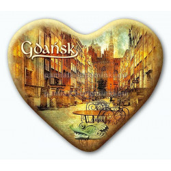 Magnes serce Gdańsk ulica Mariacka