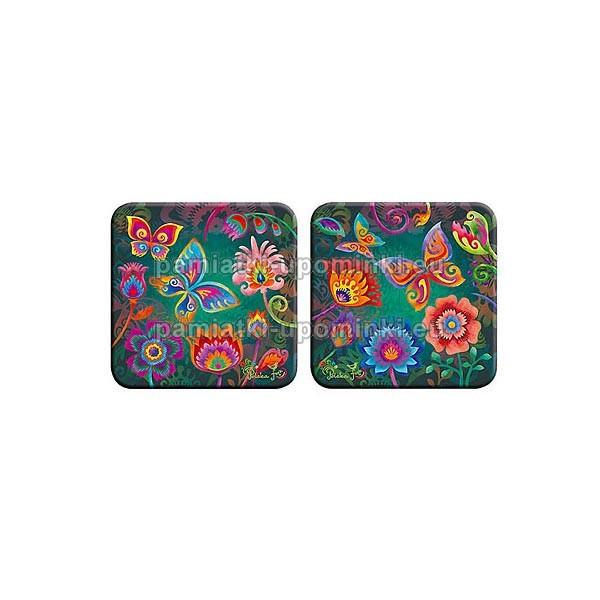Podkładki korkowe kwiaty - turkus