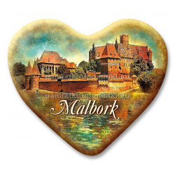 Magnes Malbork serce Zamek Krzyżacki