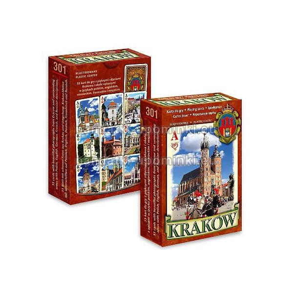 Karty do gry Kraków brązowe