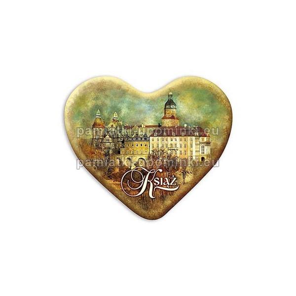 Magnes Zamek Książ serce Widok