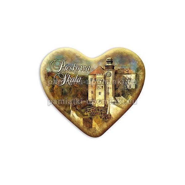 Magnes Pieskowa Skała serce Zamek