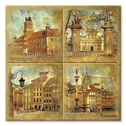Podstawka ceramiczna Warszawa Zabytki 15x15