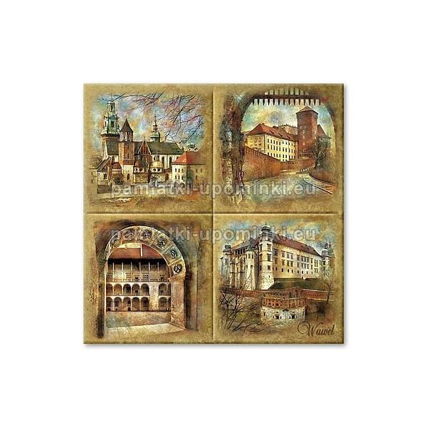 Podstawka ceramiczna Kraków Wawel 15x15