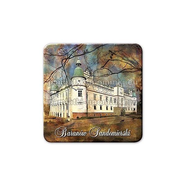 Magnes kwadrat Baranów Sandomierski Zamek