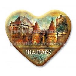 Magnes Malbork serce Dwie Wieże