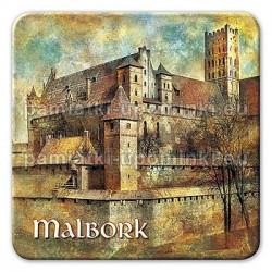 Magnes Malbork Zamek Mury kwadrat