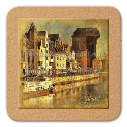 Podstawka ceramiczna Gdańsk Żuraw 11x11