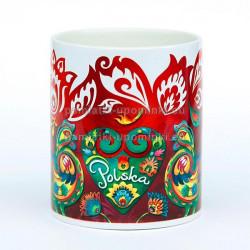 Kubek Polska Folk czerwony