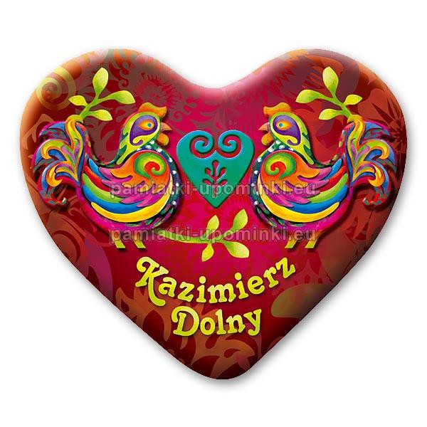 Magnes Kazimierz serce Koguty czerwony